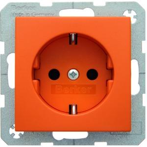 SCHUKO-Steckdose S.1/B.1/B.3/B.7 - orange/ matt