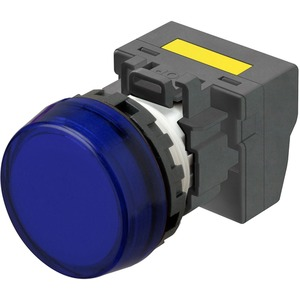 Leuchtmelder M22N Kunststoff Flach Blau 220/230/240V AC Push-In Plus