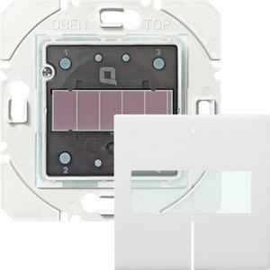 Wandfunktaster Solar 2-fach Quicklink weiß