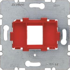 Tragplatte mit roter Aufnahme 1-fach Modul Einsatz