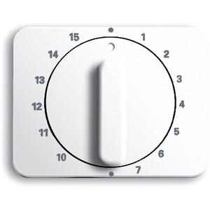 Abdeckung alpha für Zeitschaltuhr 15 Min. studioweiß glänzend