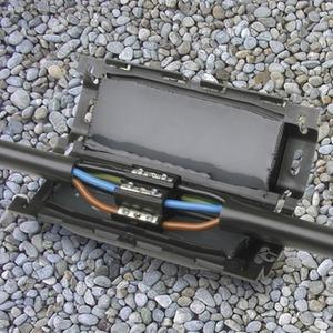 Gel-Verbindungsmuffe 1kV 4 x 6-25mm² Al/Cu re/rm inkl. Verbinderblock