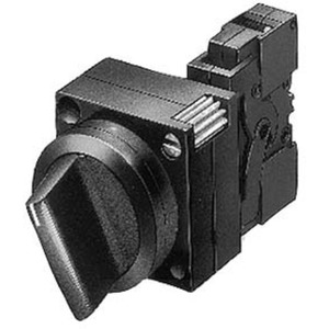 22mm Kunststoff rund Knebel tastend 3 Stellungen I-O-II
