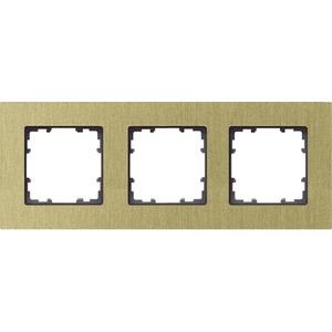 3-fach Rahmen DELTA miro ALU OXIDGEL 232x90mm