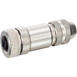 Buchse M12 gerade geschirmt B-codiert Schraubkl. 5-polig max. 0,75mm²