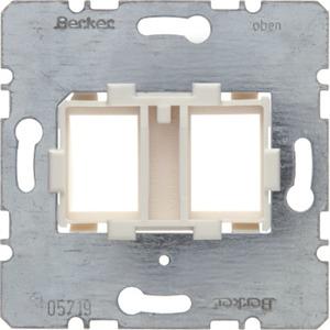 Tragplatte mit weißer Aufnahme 2fach Modul Einsatz