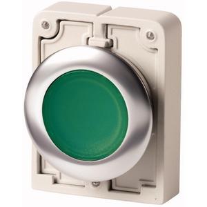 Leuchtdrucktaste Flat Front flach rastend grün unbeschriftet