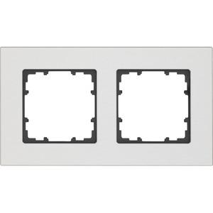 2-fach Rahmen DELTA miro ALU NATUR 161x90mm