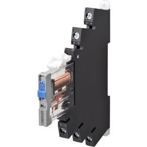 Industrierelais 6mm inkl. Sockel 1 Wechsler 6A Schraubanschluss 24V DC