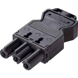Gerätekupplung Montagefertig mit Zugentlastung GST18i3 schwarz