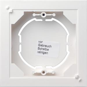 Aufputz-Gehäuse 1-fach flach für Standard 55 reinweiß matt