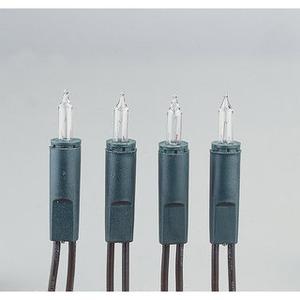 10-teilige Mini - Lichterkette für innen Schaft grün Lampe klar