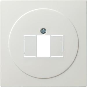 Abdeckung TAE+Stereo+USB für S-Color reinweiß