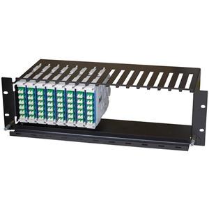 "Modulträger 19"" 1HE für 8x Fast Connect horizontal max. 96 LC Ports"