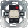 Jalousieschalter/ -taster Schalter für Doppelwippe 1-polig,Unterputz