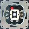 Schaltereinsatz Aus-/Wechselsch. 2-polig Glimmlampe. Steckanschluss
