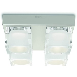 Deckenleuchte Tibris LED 4x4,5W 2000LM warmweiß Glas/chrom