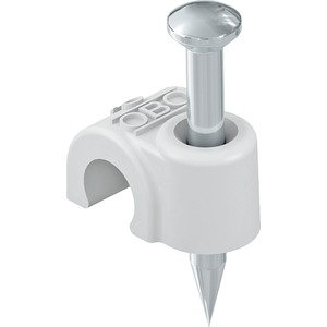 ISO-Nagel-Clip 7mm L35 PP lichtgrau RAL 7035