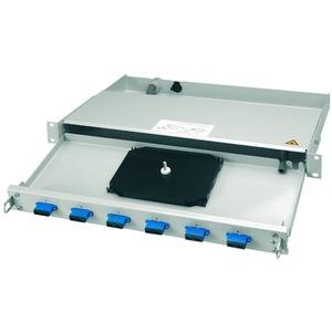 PROFI V 1 HE Rangierverteiler mit eingebauten Kupplungen/Adaptern 24xST Kupplung