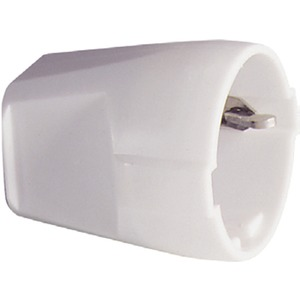SCHUKO-Kupplung Thermoplast weiß