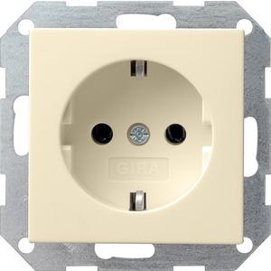 SCHUKO-Steckdose ohne Kralle für System 55 cremeweiß