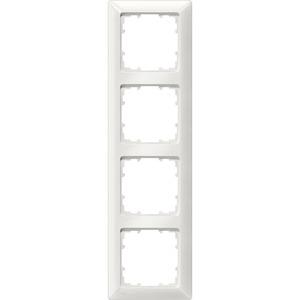 4-fach Rahmen DELTA line aluminium-metallic 293x80mm