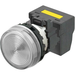 Leuchtmelder M22N Kunststoff Flach Weiss 220/230/240 VAC Push-In Plus