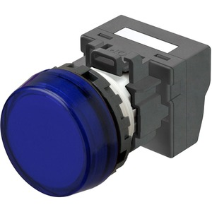 Leuchtmelder M22N Kunststoff Flach Blau 24V Push-In Plus