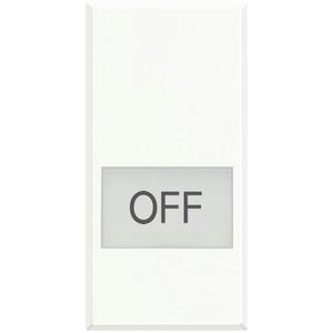 """Symbolwippe für Axialschalter bedruckt mit """"OFF"""" 1-modulig White"""