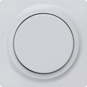 Abdeckplatte I-System aluminium-metallic für Dimmer mit Drehknopf