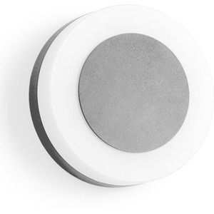 LED-Wandanbauleuchte IP54 9W 3000K 665lm silber D:145mm