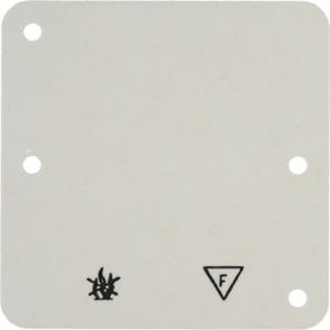 Selbstverlöschende Bodenplatte 1-fach Auf putz Zubehör weiß