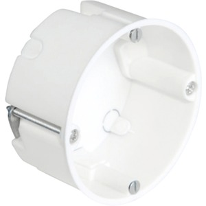 Hohlwand Gerätedose halogenfrei mit Geräteschrauben h=35 mm weiß