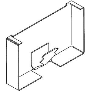 Brüstungskanal Stahlblech SIGNO BS Endstück 70/170 reinweiß