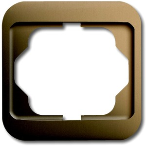 Abdeckrahmen alpha 1-fach Bronze matt