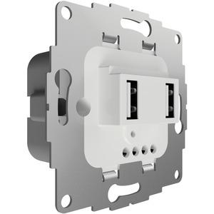 UP Ladestation mit 2 USB-Anschlüssen f. TAE-Abdeckung 19W 3,8A reinweiß glänzend