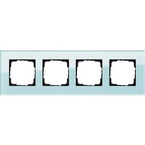 4-fach Abdeckrahmen für Esprit Glas mint