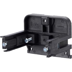 Montagehalter für Anschlussdosen T-Nut-Befestigung - Einbau waagrecht