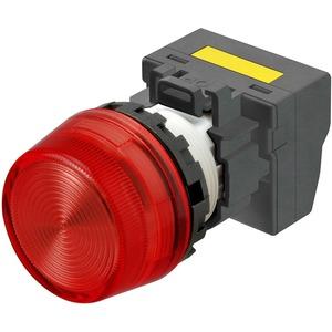 Leuchtmelder M22N Kunststoff Hoch Rot 220/230/240 VAC Push-In Plus
