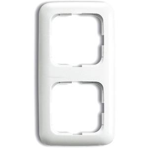 Abdeckrahmen Reflex 2-fach weiß glänzend