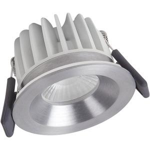 Einbau-Spot LED FIX 8W 3000K 620lm IP65 dimmbar silber