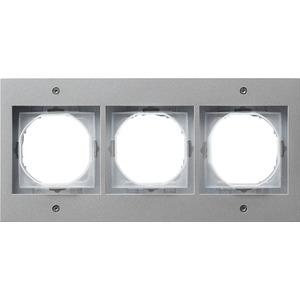 3-fach Abdeckrahmen für TX_44 (WG UP) Farbe Aluminium