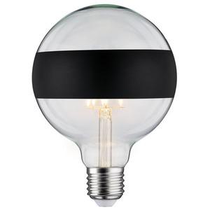 LED Globelampe 125 5W E27 230V Ringspiegel mattschwarz 2700K dimmbar 520lm