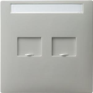 Abdeckung Modular Jack beschriftbar für S-Color grau
