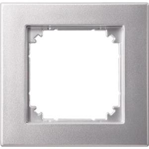 Abdeckrahmen 1-fach bündiger Einbau aluminium matt