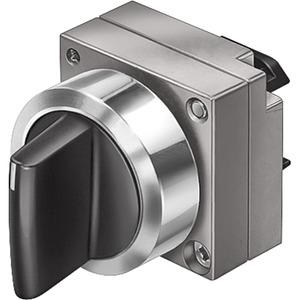 22mm Metall rund Betätiger:Knebel verrastend 2 Stellungen O-I