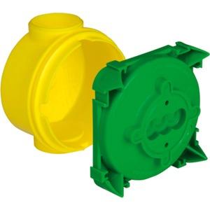 Wandleuchten-Anschlussdose mit Putzhaut Auslassöffnung Ø 35 mm T 58 mm