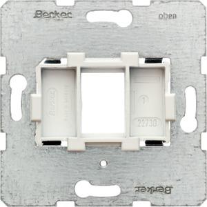 Tragplatte mit weißer Aufnahme 1-fach Modul Einsatz