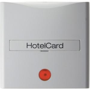 Berker Hotelcard-Schaltaufsatz mit Aufdruck und roter Linse S.1