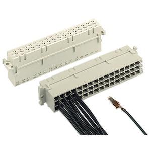 Steckverbinder DIN 41612 kontaktlos Typ F weiblich PIN 48 d+b+z